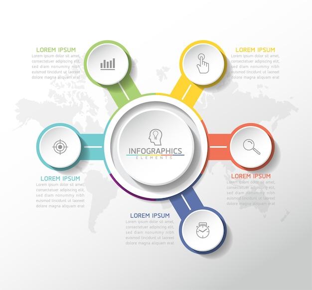 Vektorillustration infografiken designvorlage geschäftsinformationen