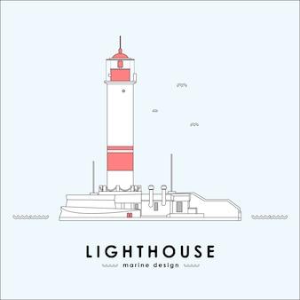Vektorillustration: leuchtturm
