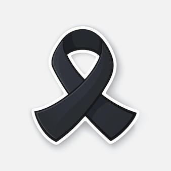 Vektorillustration schwarzes farbbandsymbol des melanom- und hautkrebsbewusstseins