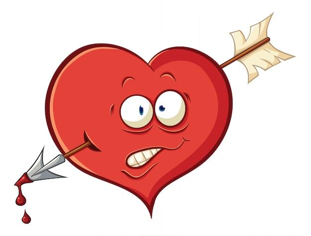 Vektorillustration über herz für valentinstag