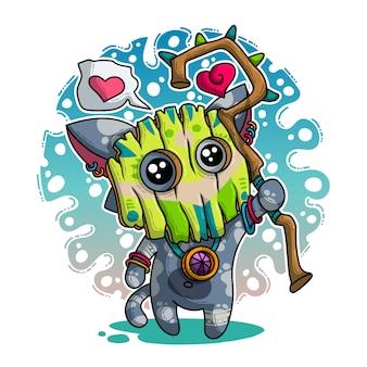 Vektorillustration über shaman in der liebe