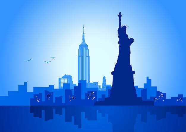 Vektorillustration von new- york cityskyline