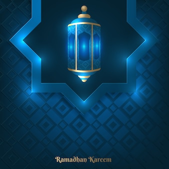 Vektorillustration von ramadan kareem-grußkartenschablone
