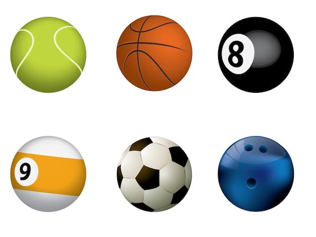 Vektorillustration von sportbällen