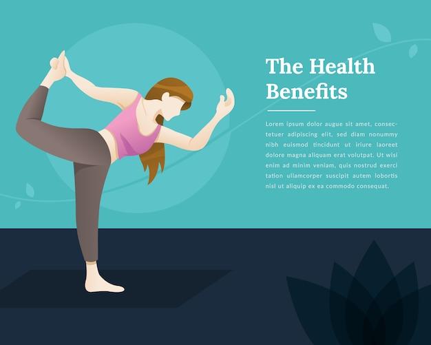 Vektorillustration von yoga für gesundheit