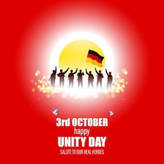 Vektorillustration zum tag der deutschen einheit – 3. oktober