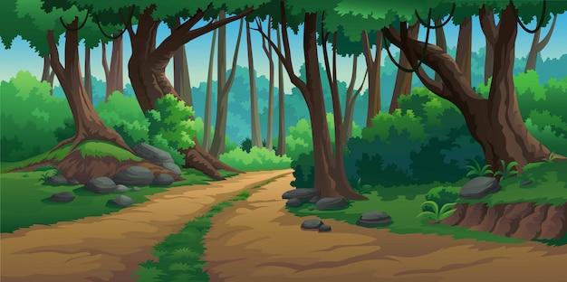 Vektorillustrationen im wilden und natürlichen