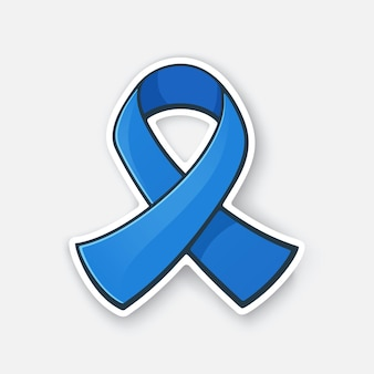 Vektorillustrations-band an der blauen farbe internationales symbol des darmkrebsbewusstseins