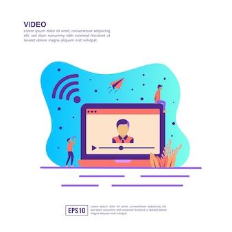 Vektorillustrationskonzept des videos