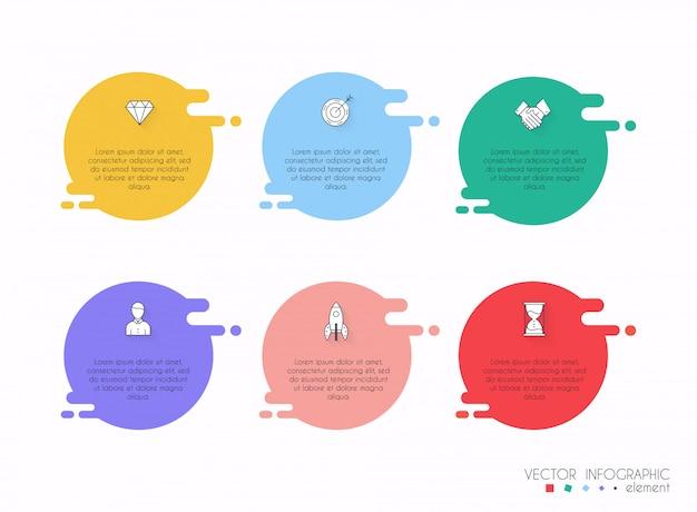 Vektorinfo-grafiken für ihre geschäftspräsentationen.