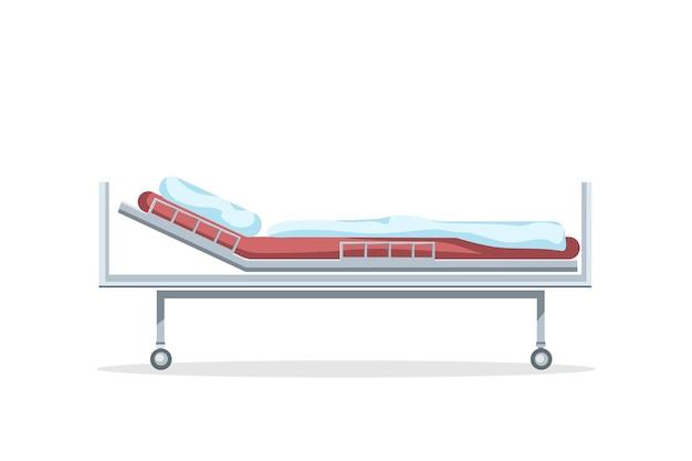 Vektorkarikaturillustration eines medizinischen bettes für die behandlung eines patienten.