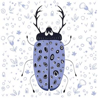 Vektorkarikaturwanze oder -käfer