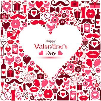 Vektorkarte von valentine day