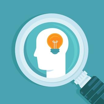 Vektorkreatives ideenkonzept