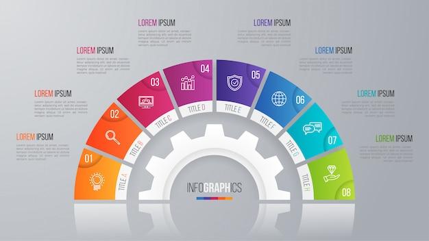 Vektorkreis-diagrammschablone für infographics wahlen.