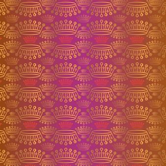 Vektorkronengold und roter königinhintergrund