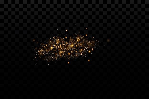 Vektorlicht mit sternenschein magischer effekt lichteffekte hintergrund