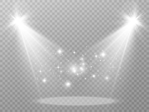 Vektorlichtquellen konzertbeleuchtungsscheinwerfer set konzertscheinwerfer mit beleuchtetem strahl