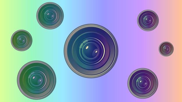 Vektorlinse mit linsen und highlights. eps 10.