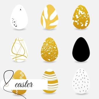 Vektornahtloses muster mit dekorativen eiern. osterferien-sandhintergrund für website, druck auf stoff, geschenkpapier und tapeten