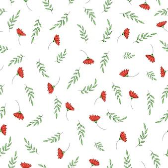 Vektornahtloses muster mit gartenblumen.