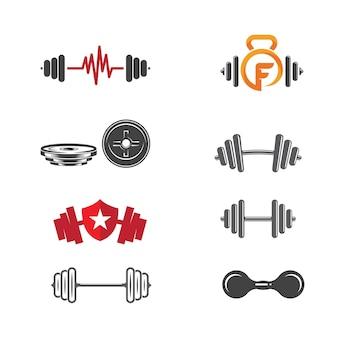 Vektorobjekt und icons für sport label, gym badge, fitness logo design