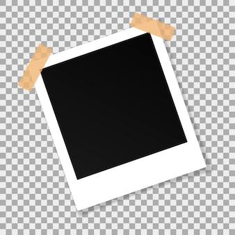 Vektorpapierquadratrahmen lokalisiert auf transparentem hintergrund