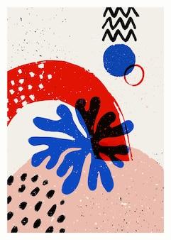 Vektorplakat der abstrakten kunst
