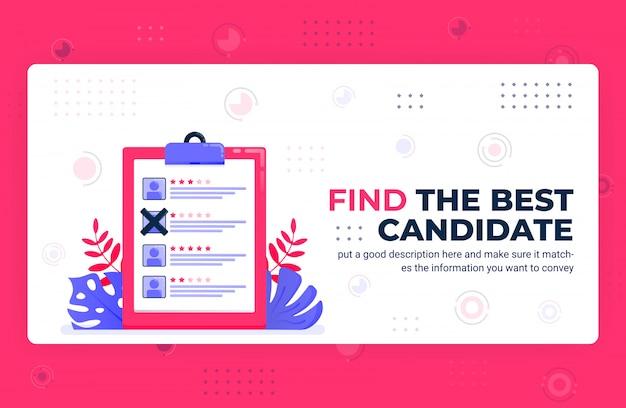 Vektorplakatillustration des besten kandidaten finden.