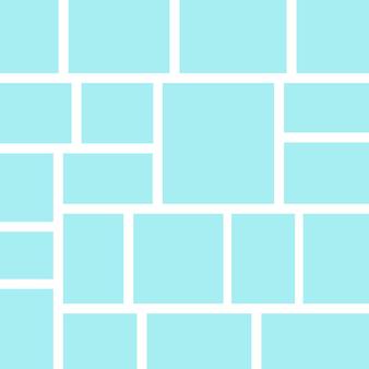 Vektorrahmen für fotos und bilder fotocollage fotopuzzle auf gelbem hintergrund vorlagen collagerahmen für foto oder illustration vector mood board branding präsentation Premium Vektoren