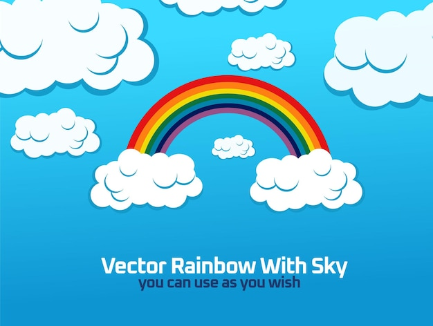 Vektorregenbogen mit himmelsdesign