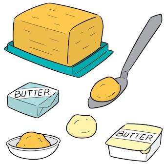 Vektorsatz butter