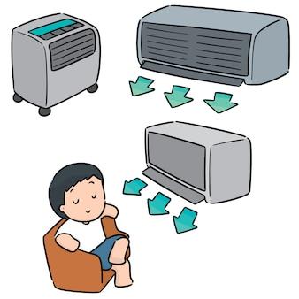 Vektorsatz der klimaanlage