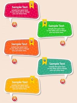 Vektorsatz der spracheblasentextbox