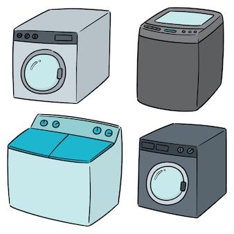 Vektorsatz der waschmaschine