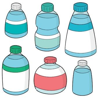 Vektorsatz der wasserflasche