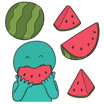 Vektorsatz der wassermelone