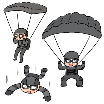 Vektorsatz des fallschirmspringers
