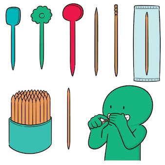 Vektorsatz des zahnstochers