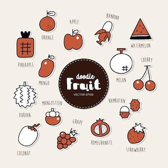 Vektorsatz fruchtikonen
