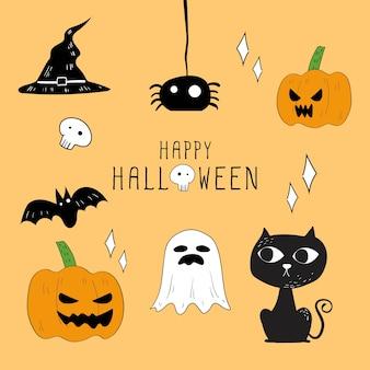Vektorsatz halloween-elemente.