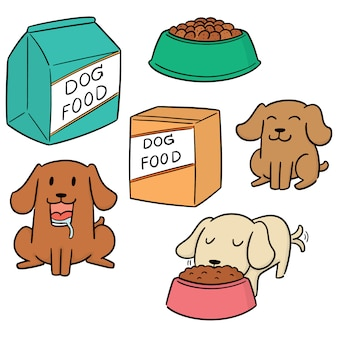 Vektorsatz hundefutter