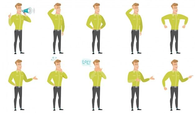 Vektorsatz illustrationen mit geschäftsleuten.