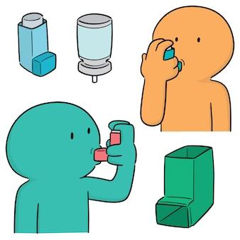 Vektorsatz inhalationsmedizin