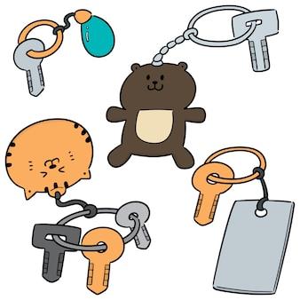Vektorsatz keychain
