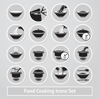 Vektorsatz kochen von ikonen