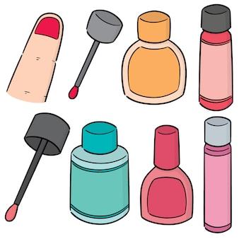 Vektorsatz nagellack