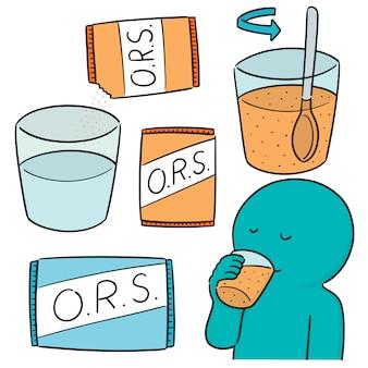 Vektorsatz orales rehydratisierungssalz