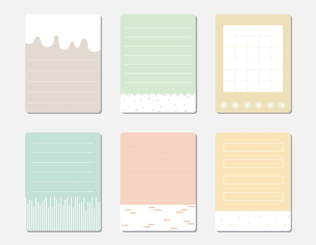 Vektorsatz verschiedene farbe briefpapiere.