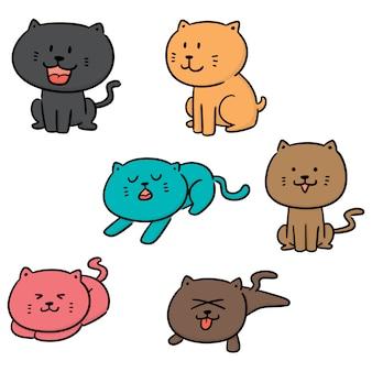 Vektorsatz von katzen